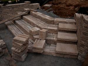 Stone block steps