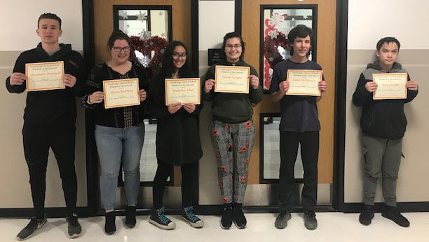 Cambridge names Students of the Quarter