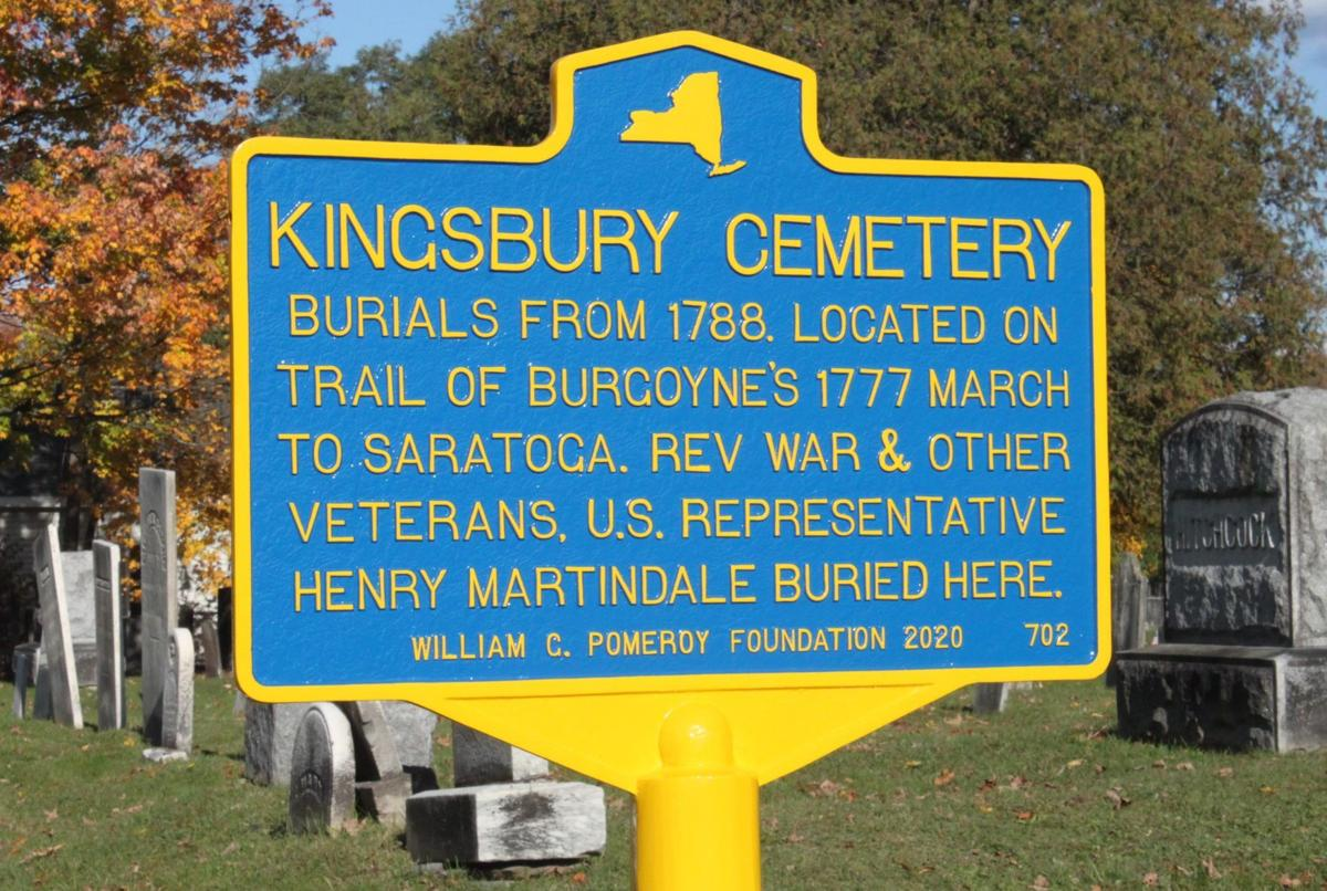 Historic Kingsbury Cemetery sign dedicated