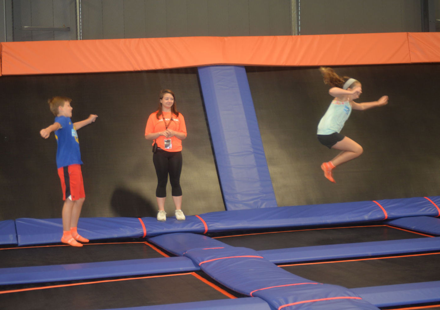 photograph relating to Skyzone Printable Waiver named Sky Zone trampoline park brings together basic safety and exciting Area