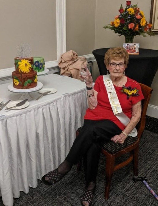 Pringle celebrates 100th birthday