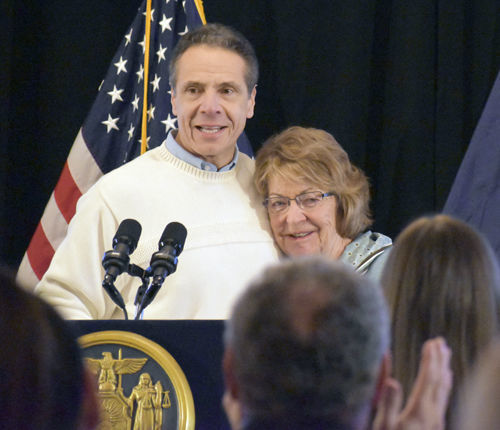 Betty Little and Gov. Andrew Cuomo