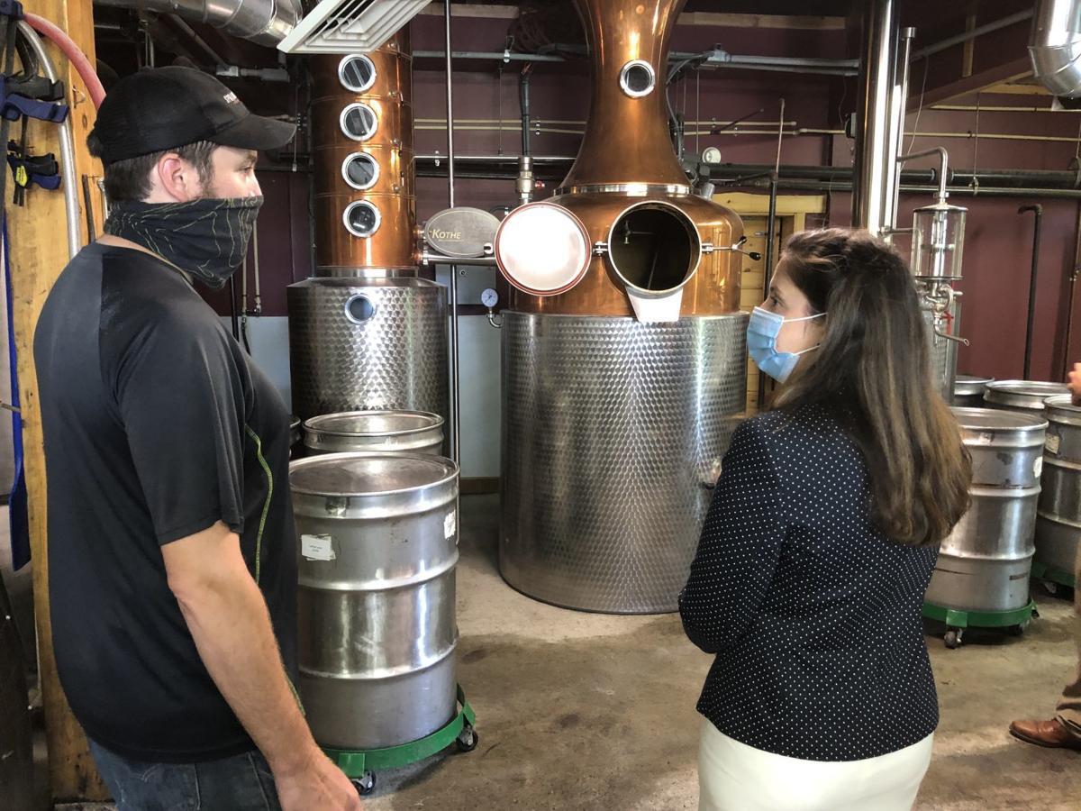 Stefanik visits Springbrook Hollow Farm Distillery