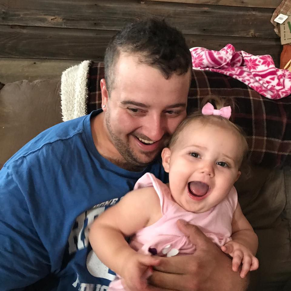 Josh Beck and daughter