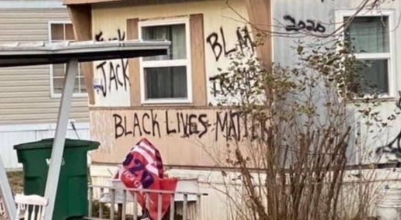 Mobile home graffiti