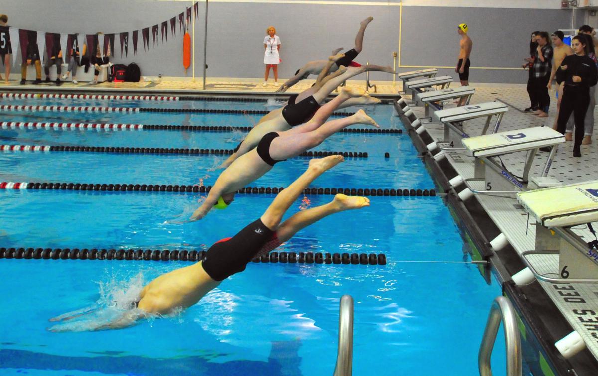 Glens Falls vs. Queensbury swimming