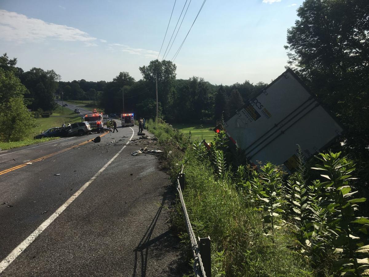 Route 149 crash scene