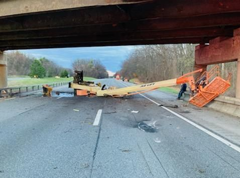 Truck crash closes southbound Northway lanes at Clifton Park