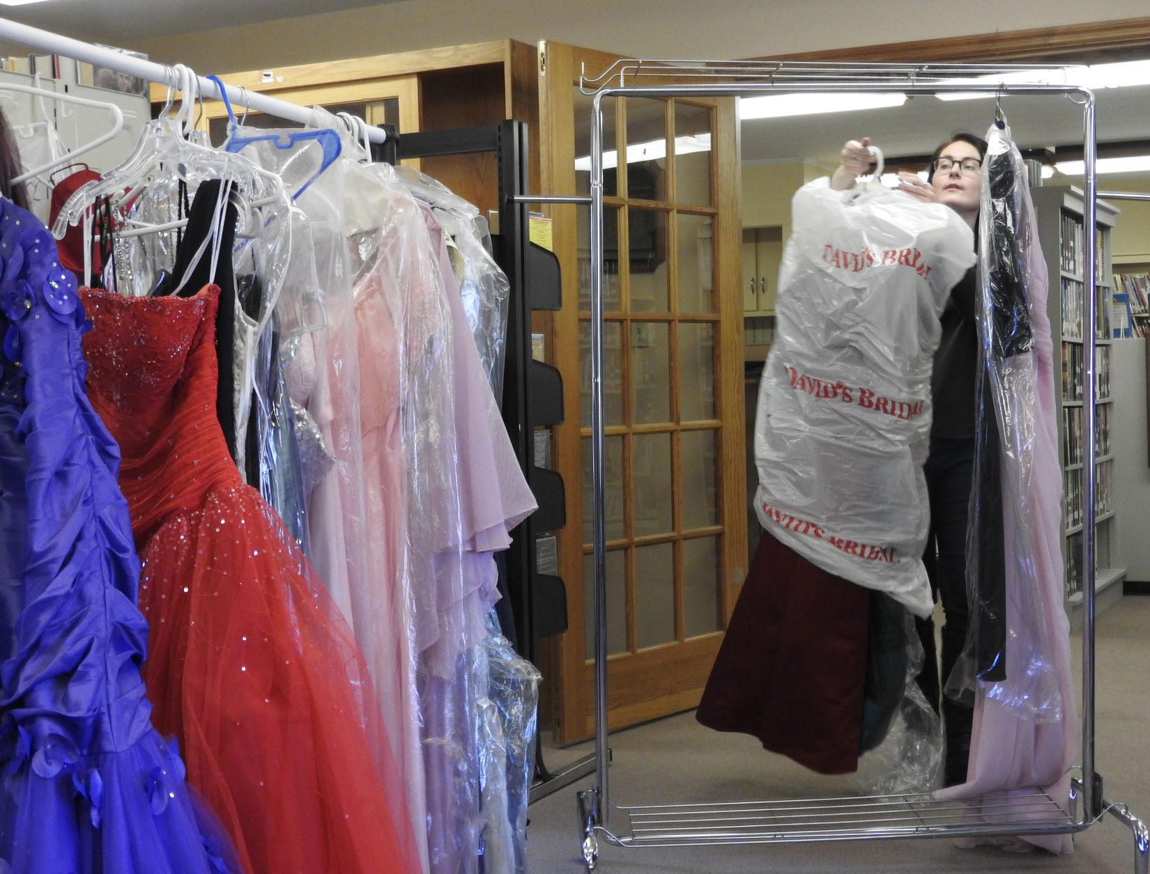 What's new at Argyle library? Prom dresses
