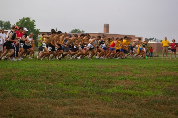 Miles with a Message 5K at the Queensbury school.