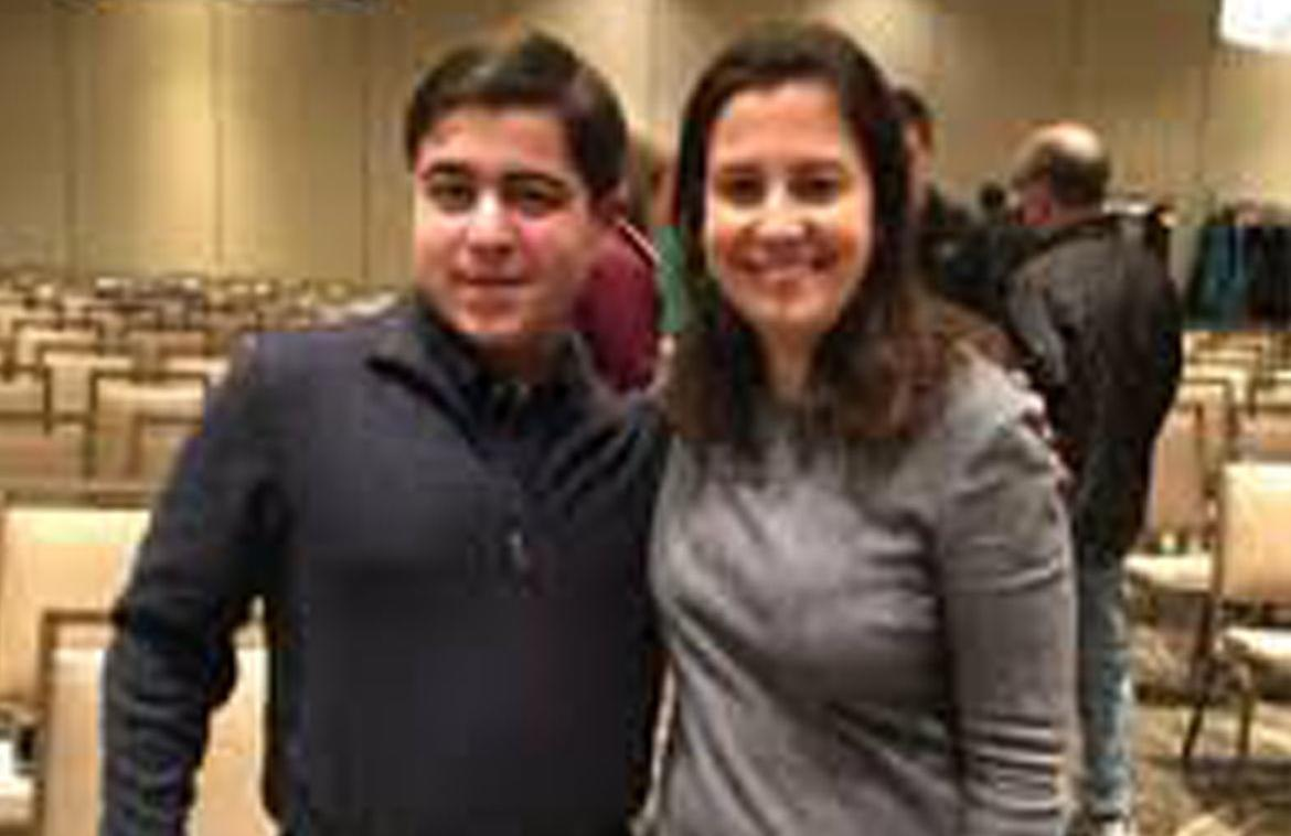 Preston Scagnelli and U.S. Rep. Elise Stefanik