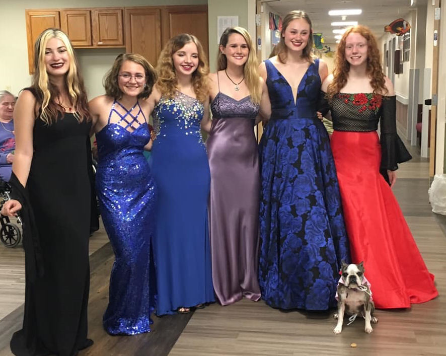 Nursing home gets prom fashion show
