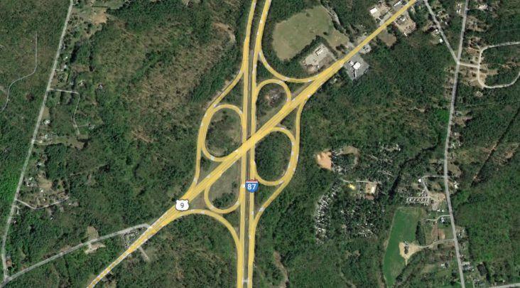 Route 9 bridge in Moreau over Northway