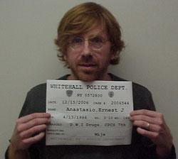 Phish lead singer arrested in Whitehall