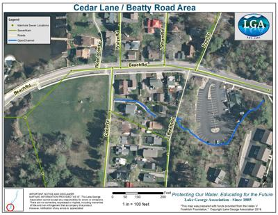 Cedar Lane and Beatty Road map