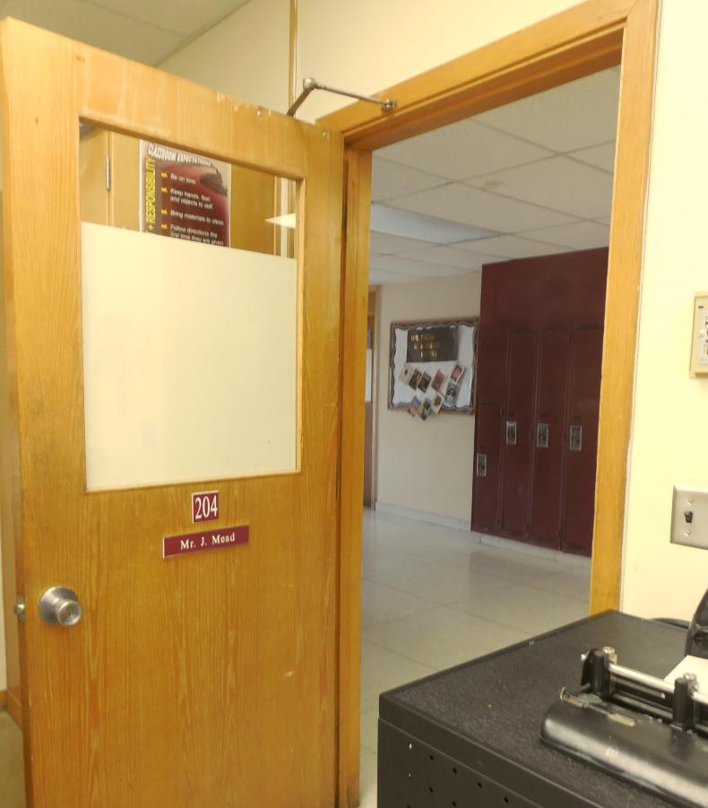 High School doors