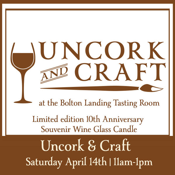 Adirondack Winery's 10th Anniversary Weekend Celebration - Uncork & Craft: Wine Glass Candles