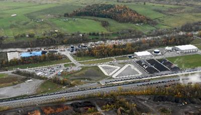 Former dewatering plant site