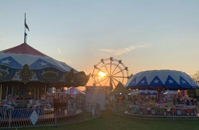 Sun sets on the fair