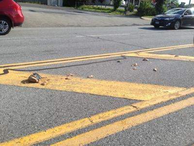 Meat spill on Aviation Road