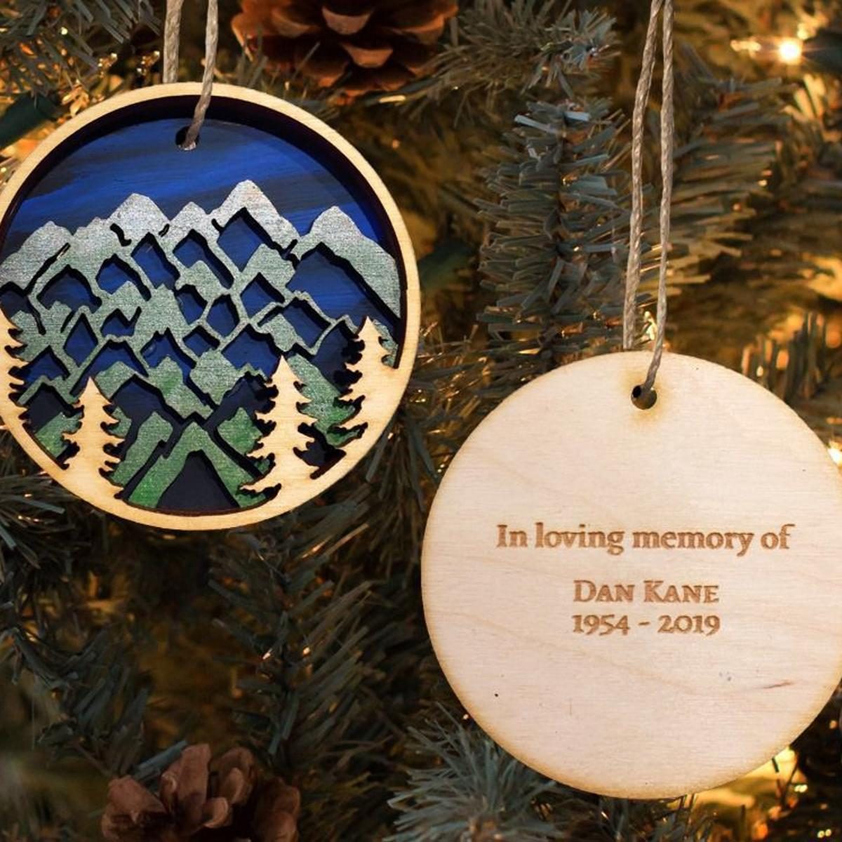 BLOG Christmas ornaments for Dan Kane