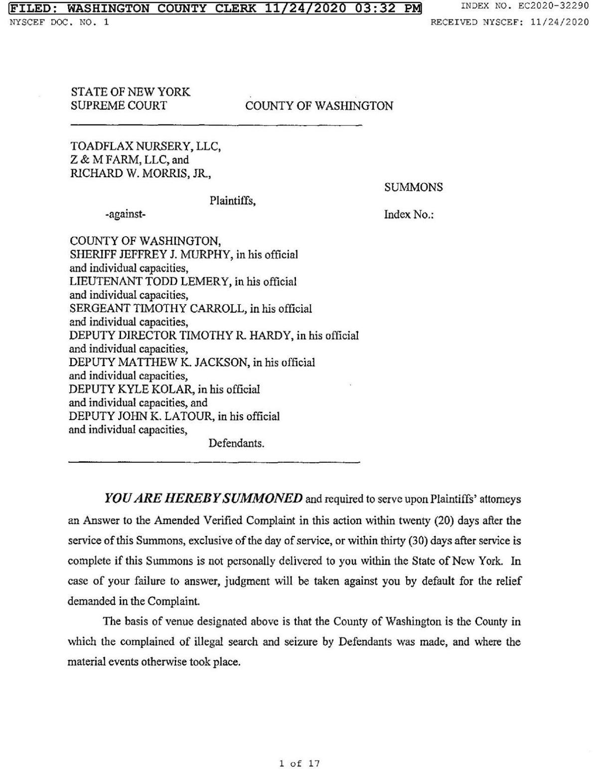 Toadflax lawsuit