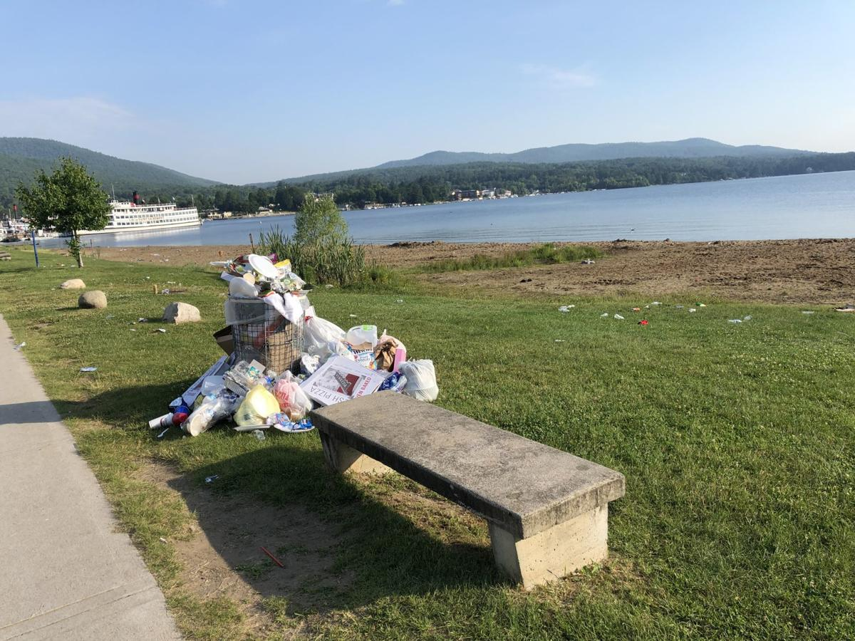 Lake George trash