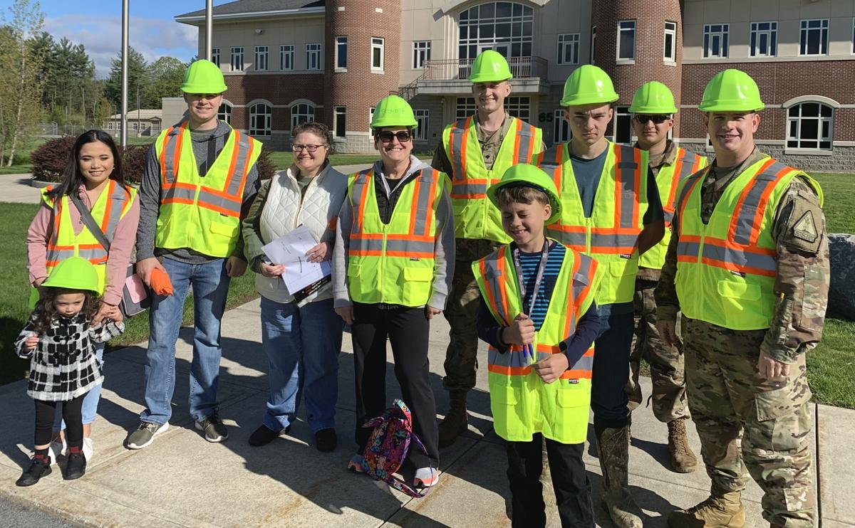 National Guard soldiers do highway cleanup
