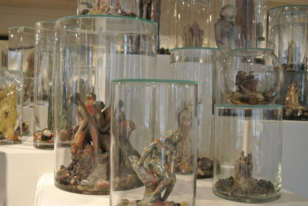 Ceramic & Glass Installation, Part of Show 3 at LARAC by Sharon Kingsbury.