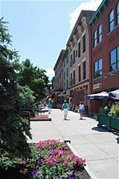 A view of Broadway in Saratoga Springs