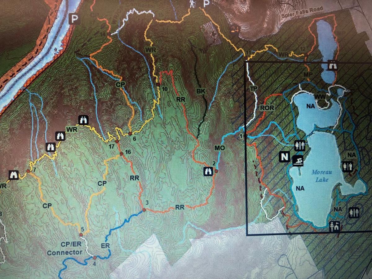 Moreau Lake map