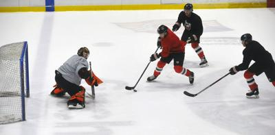 Adirondack Thunder first-day practice