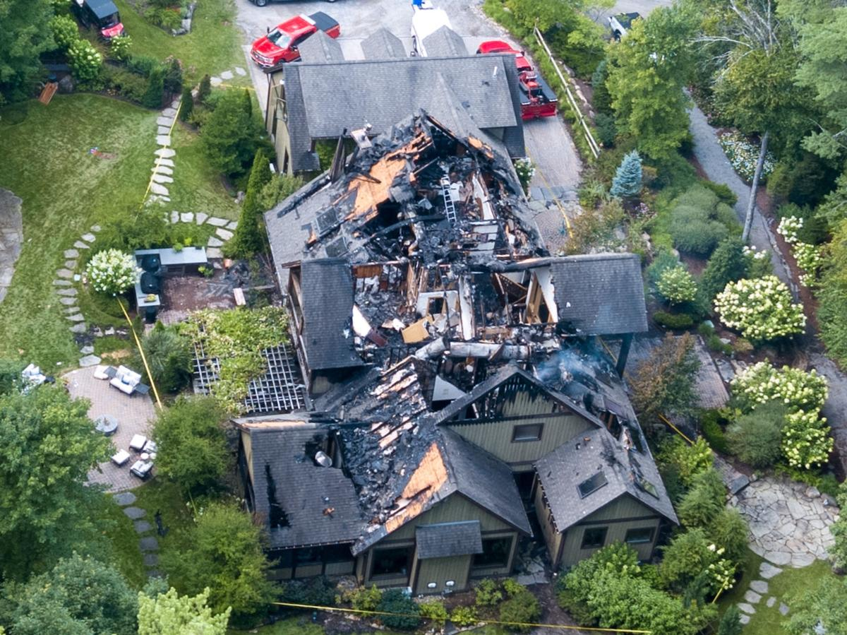 Investigators say fire at Rachael Ray's house started in ...Rachael Ray House Fire Drone