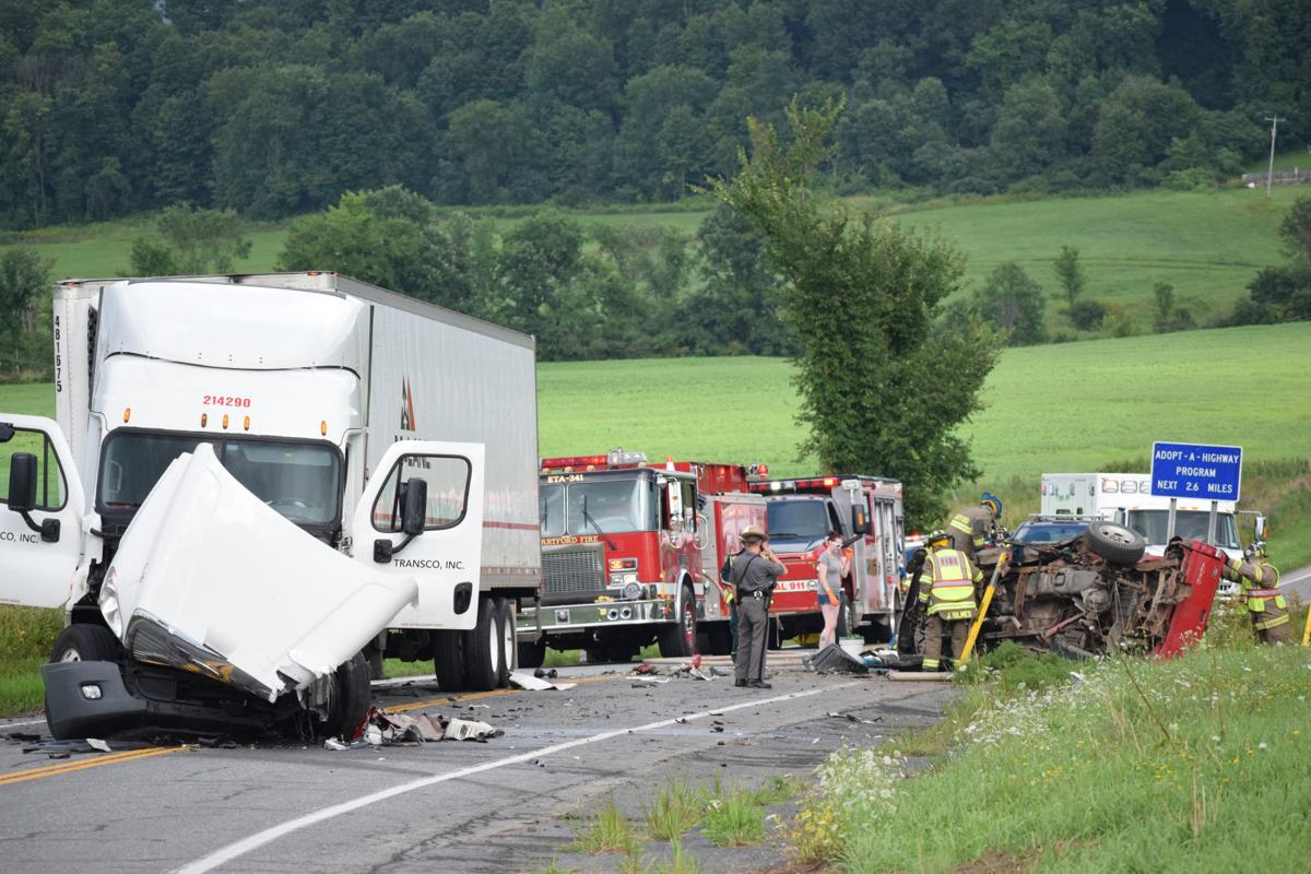 a75774d62c7 A female pickup truck driver was airlifted to the hospital following a  crash with a tractor-trailer Wednesday evening on state Route 149 near the  ...