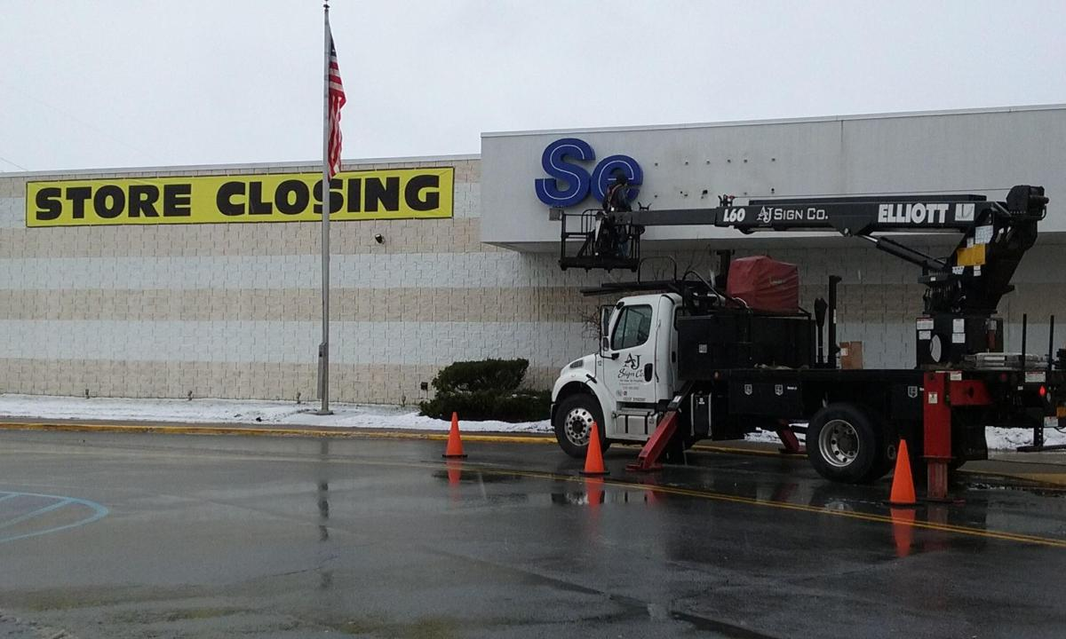 Sears sign removed