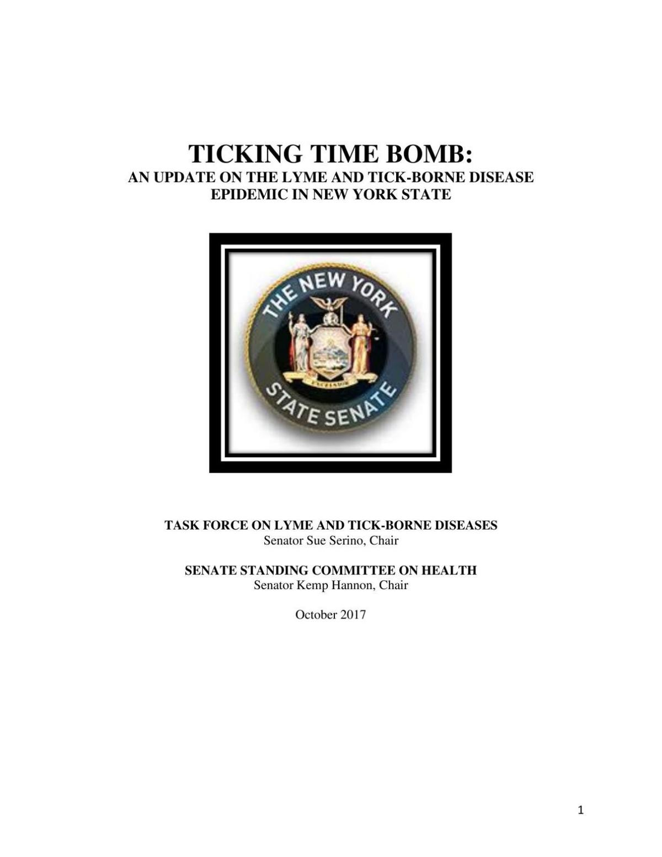 Lyme disease Senate report