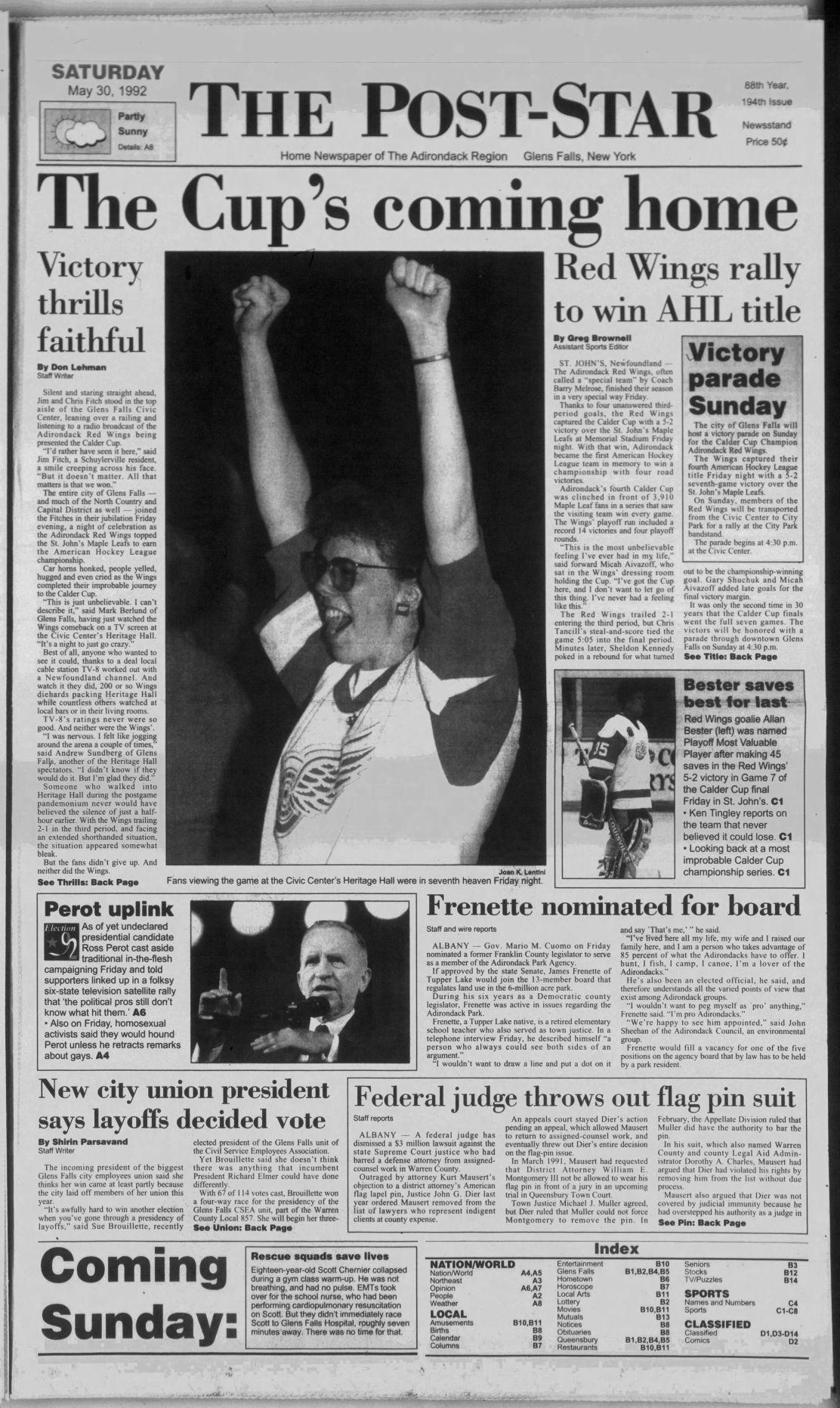 Post-Star A1, May 30, 1992
