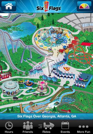 Six Flags Iphone App Has Interactive Park Maps Blogs Poststar Com