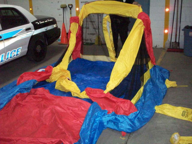 deflated bounce house