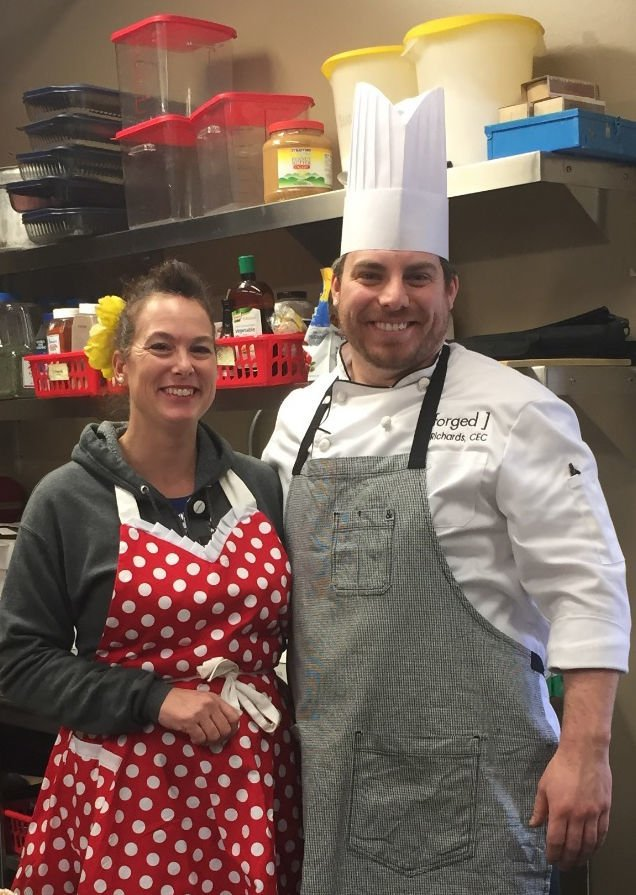 Forged chef cooks for Head Start families