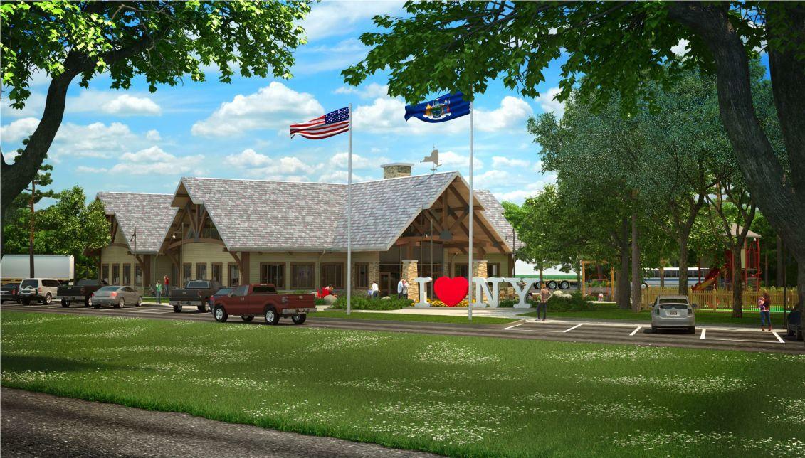 Adirondack Inspired Welcome Center Work Begins At Northway