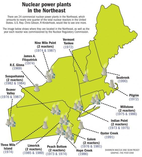 Map Of Us Northeast Region Globalinterco - Us nuclear power plants map florida