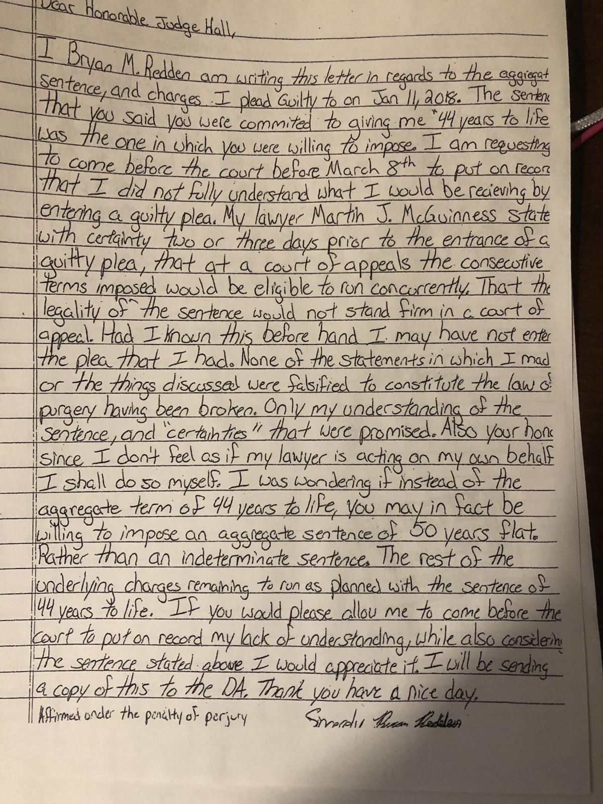 Redden letter