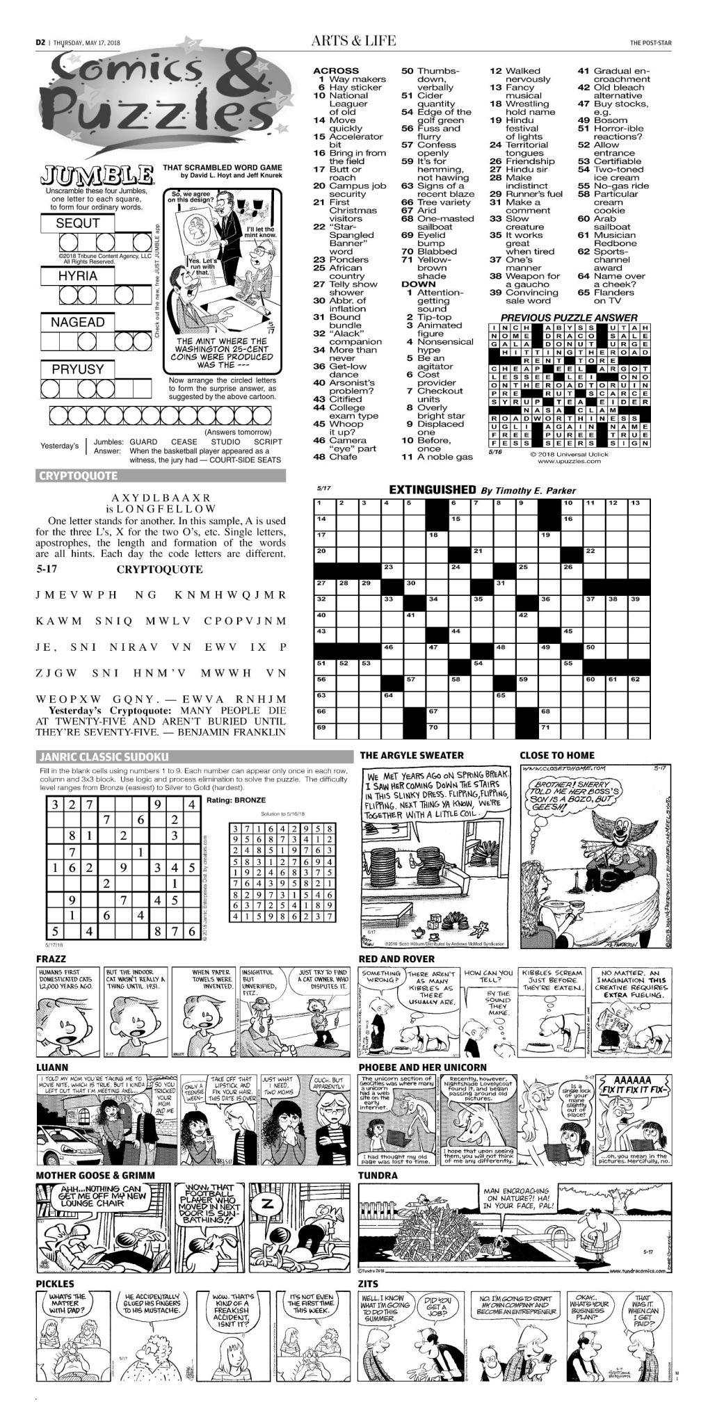 comics | Puzzles & Comics | poststar com