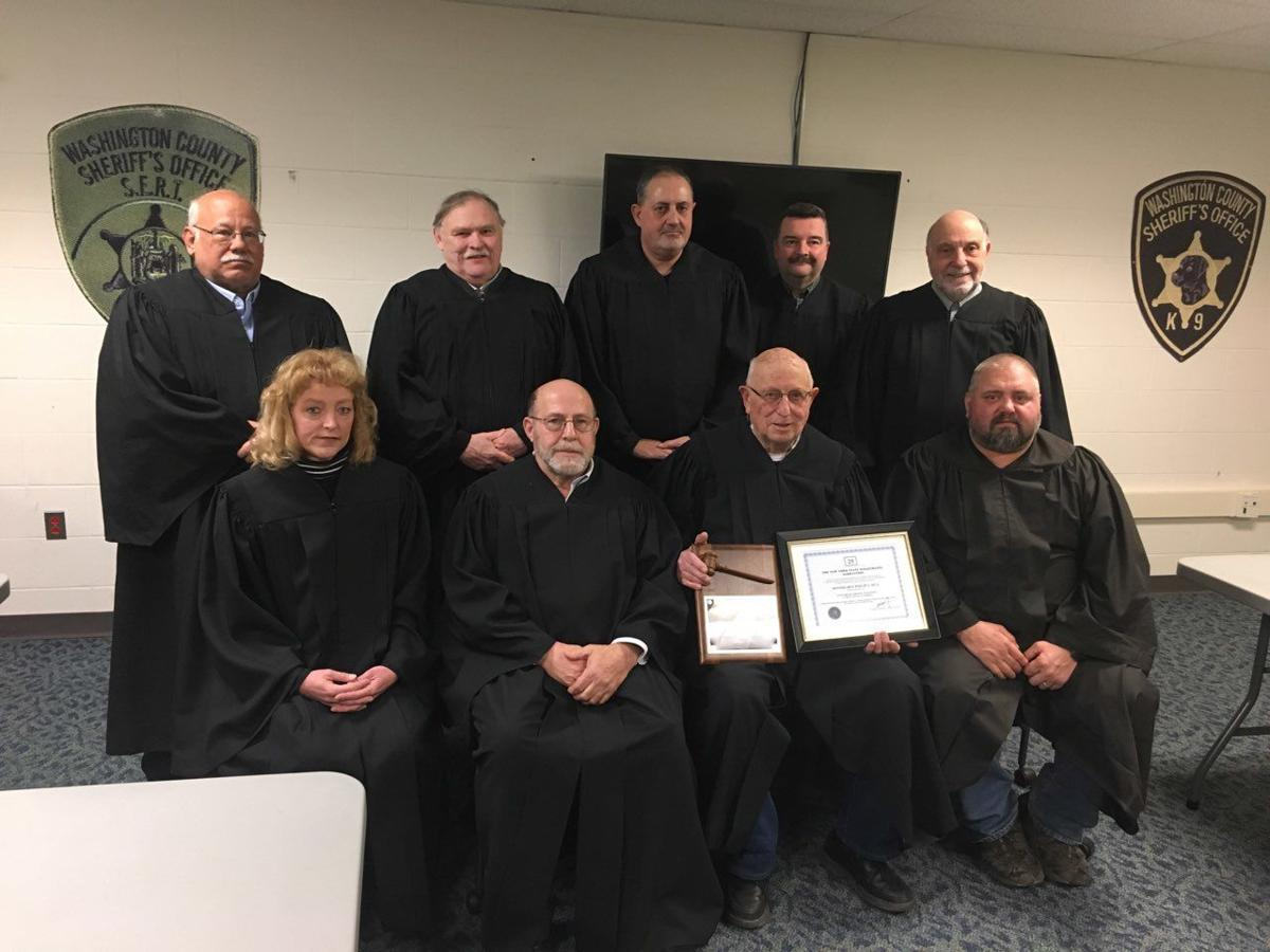 Judge Sica with magistrates