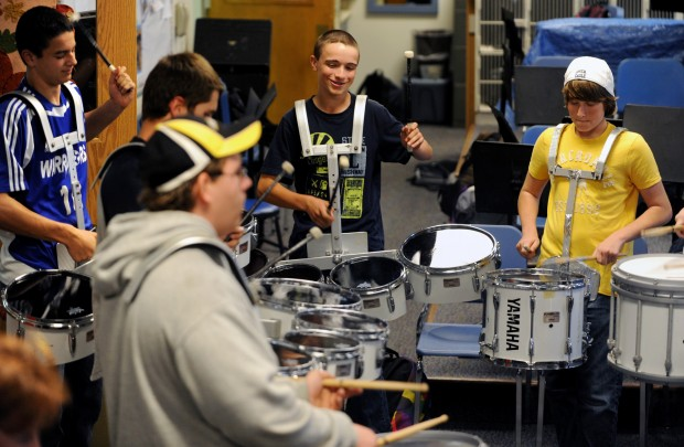 Lake George student drum line sets pace at school's home games