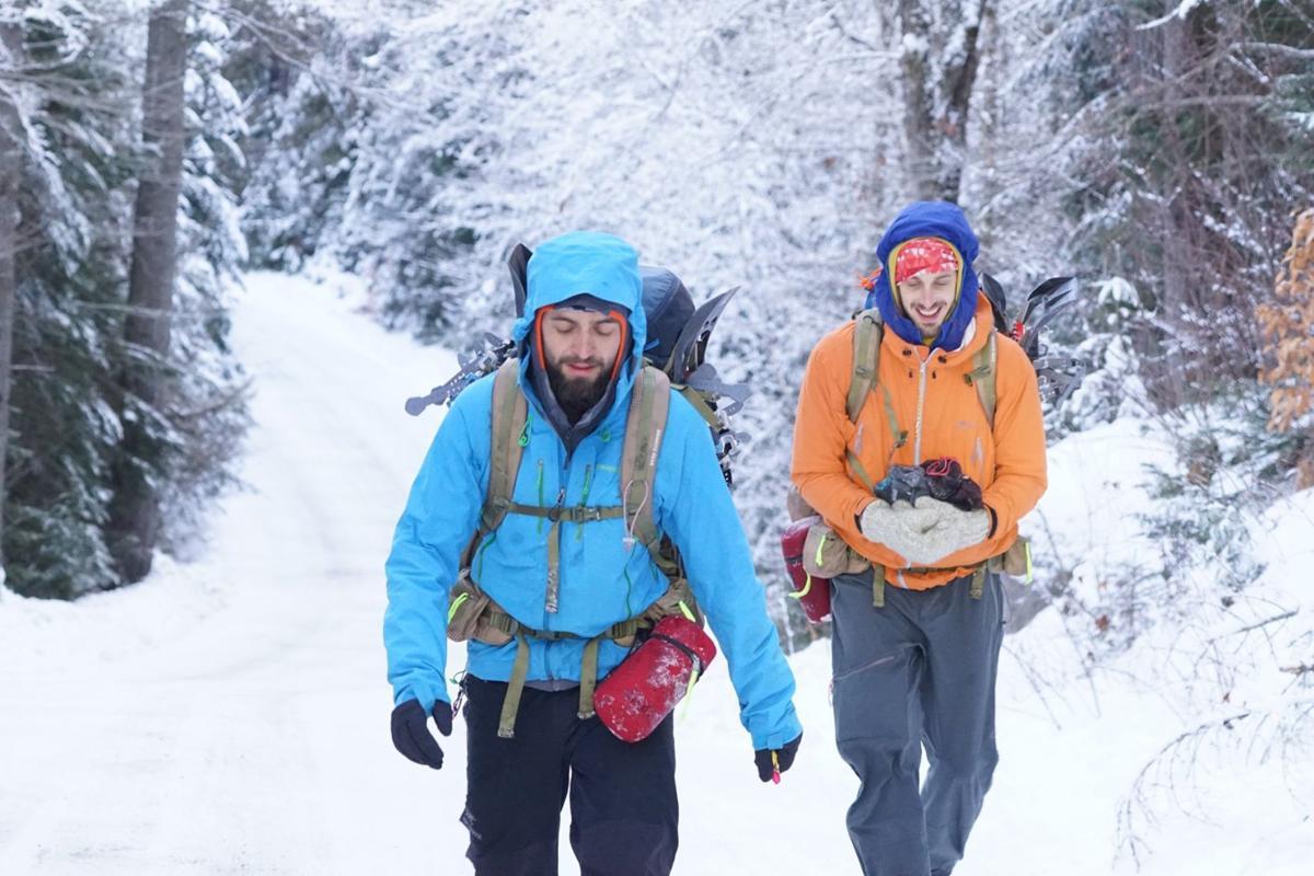 Winter hikers