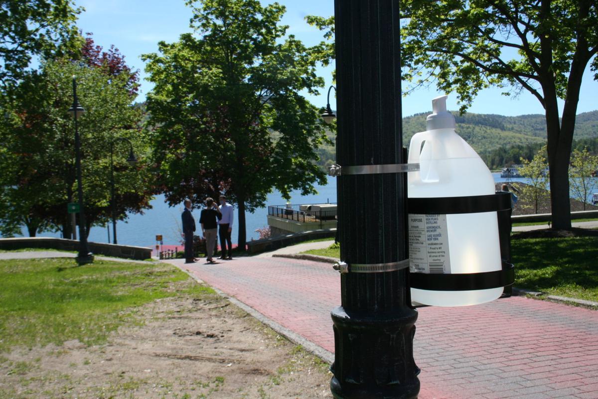 Park sanitizer station