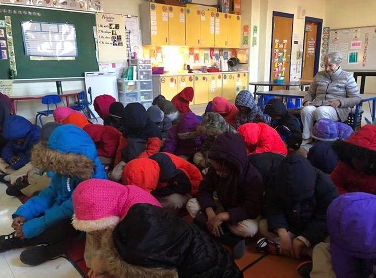 Baltimore students bundled up