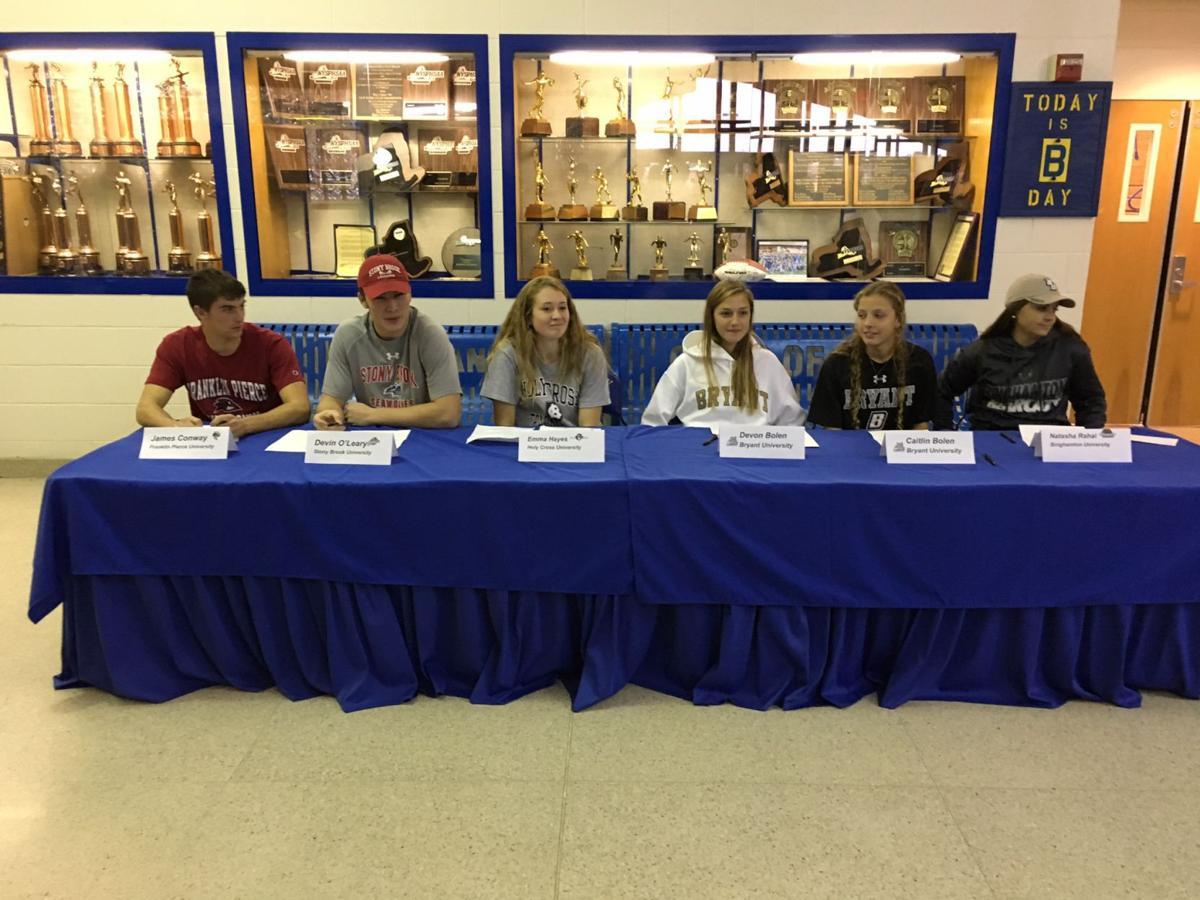 Queensbury signing athletes